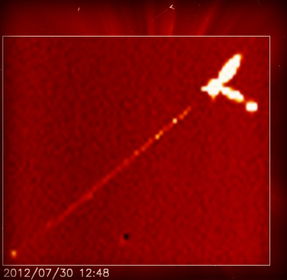 SOHO satellite capture of Nibiru