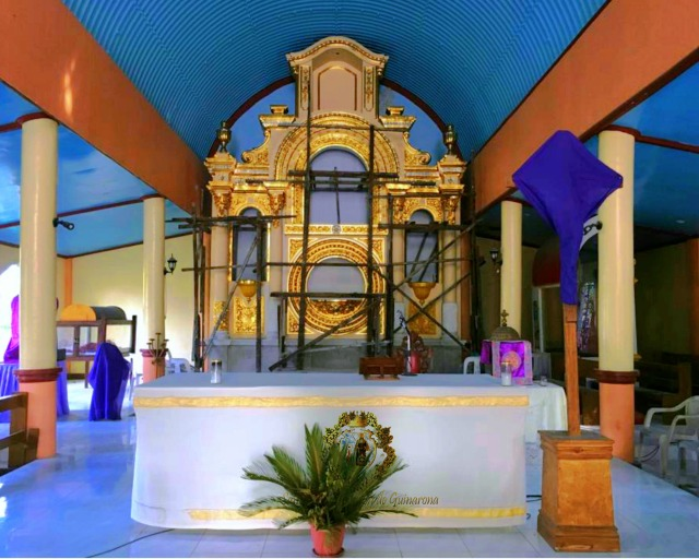 Progress of interior, Guinarona San Pascual Baylon Parish Church.